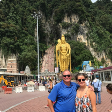 Andrew and Gemma in Malaysia