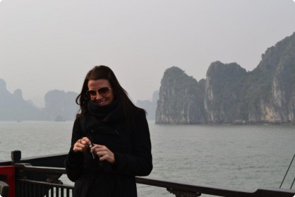 Keely Bonser enjoying Christmas at Halong Bay, Thailand