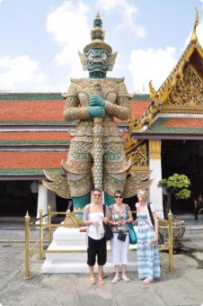 Keely sightseeing in Bangkok